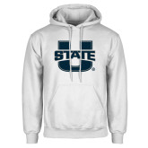 White Fleece Hoodie-Primary Mark Athletics