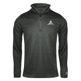 Russell Charcoal Heather 1/4 Zip-University Mark Stacked