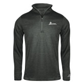 Russell Charcoal Heather 1/4 Zip-University Mark Horizontal