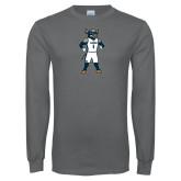 Charcoal Long Sleeve T Shirt-Big Blue Basketball
