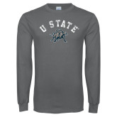 Charcoal Long Sleeve T Shirt-U State Arched