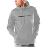 Under Armour Grey Armour Fleece Hoodie-University Wordmark Flat