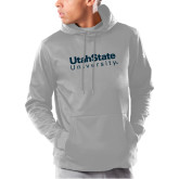 Under Armour Grey Armour Fleece Hoodie-University Wordmark