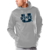 Under Armour Grey Armour Fleece Hoodie-Primary Mark Athletics