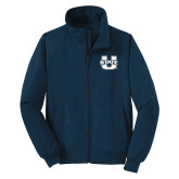 Navy Charger Jacket-Primary Mark Athletics