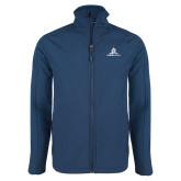 Navy Softshell Jacket-University Mark Stacked