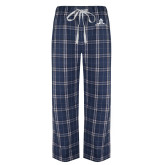 Navy/White Flannel Pajama Pant-University Mark Stacked