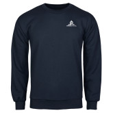 Navy Fleece Crew-University Mark Stacked
