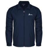 Full Zip Navy Wind Jacket-University Mark Horizontal