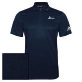 Adidas Climalite Navy Grind Polo-University Mark Horizontal