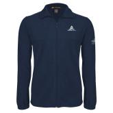 Fleece Full Zip Navy Jacket-University Mark Stacked