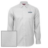Red House White Diamond Dobby Long Sleeve Shirt-University Wordmark