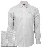 Red House White Diamond Dobby Long Sleeve Shirt-Wordmark Athletics