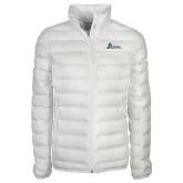 Columbia Lake 22 Ladies White Jacket-University Mark Horizontal