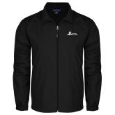 Full Zip Black Wind Jacket-University Mark Horizontal