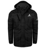 Black Brushstroke Print Insulated Jacket-University Mark Stacked