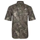 Camo Short Sleeve Performance Fishing Shirt-University Mark Stacked