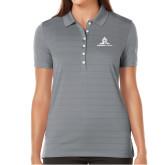 Ladies Callaway Opti Vent Steel Grey Polo-University Mark Stacked