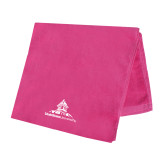 Pink Beach Towel-University Mark Stacked