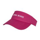 Pink Athletic Mesh Visor-Wordmark Athletics