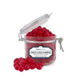 Sweet & Sour Cherry Surprise Small Round Canister-University Wordmark Flat