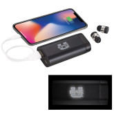 LIGHT UP LOGO Wireless Earbuds w/UL Powerbank-Primary Mark Athletics Engraved