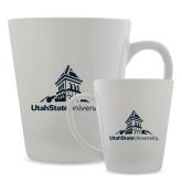 Full Color Latte Mug 12oz-University Mark Stacked