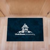 Full Color Indoor Floor Mat-University Mark Stacked