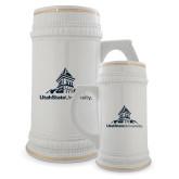 Full Color Decorative Ceramic Mug 22oz-University Mark Stacked
