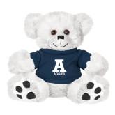 Plush Big Paw 8 1/2 inch White Bear w/Navy Shirt-A Aggies