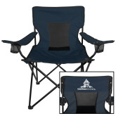 Deluxe Navy Captains Chair-University Mark Stacked