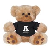 Plush Big Paw 8 1/2 inch Brown Bear w/Black Shirt-A Aggies