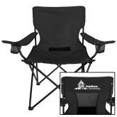 Deluxe Black Captains Chair-University Mark Horizontal