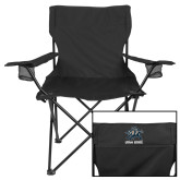 Deluxe Black Captains Chair-Utah State Stacked w/  Mascot
