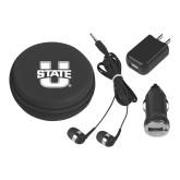 3 in 1 Black Audio Travel Kit-Primary Mark Athletics