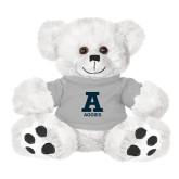 Plush Big Paw 8 1/2 inch White Bear w/Grey Shirt-A Aggies