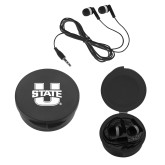 Ear Buds in Black Case-Primary Mark Athletics
