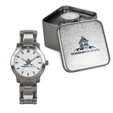Mens Stainless Steel Fashion Watch-University Mark Stacked