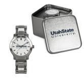 Ladies Stainless Steel Fashion Watch-University Wordmark