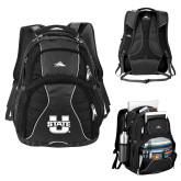 High Sierra Swerve Black Compu Backpack-Primary Mark Athletics