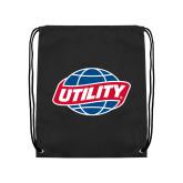 Black Drawstring Backpack-Utility