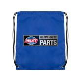 Royal Drawstring Backpack-Heavy Duty Parts Horizontal