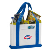 Contender White/Royal Canvas Tote-Utility