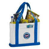 Contender White/Royal Canvas Tote-Genuine Parts