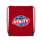 Red Drawstring Backpack-Utility