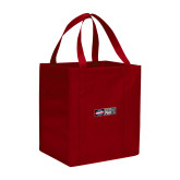 Non Woven Red Grocery Tote-Heavy Duty Parts Horizontal