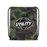 Camo Drawstring Backpack-Utility