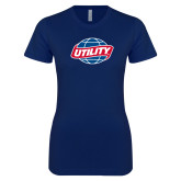 Next Level Ladies SoftStyle Junior Fitted Navy Tee-Utility