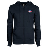 ENZA Ladies Navy Fleece Full Zip Hoodie-Utility