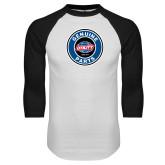 White/Black Raglan Baseball T Shirt-Genuine Parts